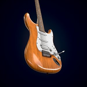 3D Electric guitar Homage HEG-320