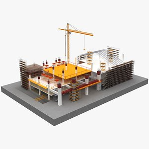 3D construction city building