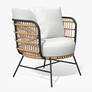 Onya Lily White Lounge Chair model