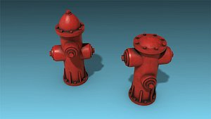 3D low-poly hydrant