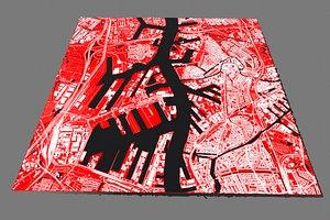 3D Cityscape Rotterdam Netherlands model