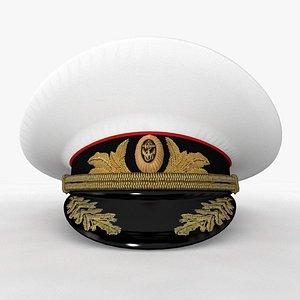 captain hat cap 3D