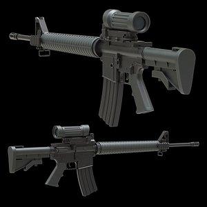 Colt Canada C7A2 Low Poly 3D model