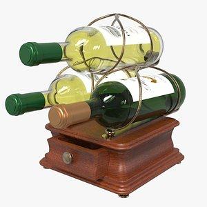 3 Wine Bottle Holder 3D model
