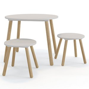3D Jimi childrens table and stool