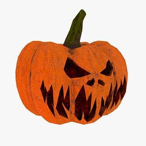 Halloween Pumpkin Low-poly 3D model 3D model