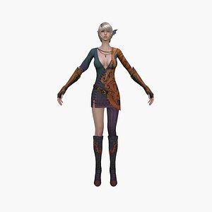 3D model elf princess