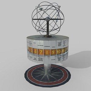 World Clock Berlin Alexander Platz 3D model