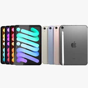 Apple iPad mini 2021 6th gen WiFi and Cellular with Pencil All Colors model
