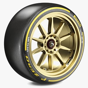 3D model F1 Pirelli 18 Inch Medium Tyre