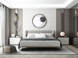 3D Modern Style Bedroom - 619