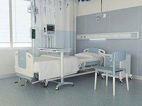 Hospital ward, modern hospital ward, advanced ward, bed care room inpatient department