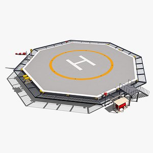 octagonal heliport 3D model
