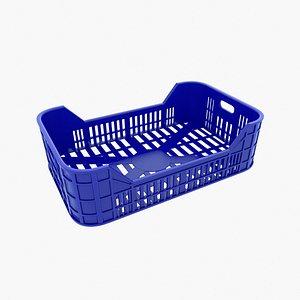Plastic Food Crate 3D model