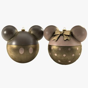 3D mickey minnie mouse christmas balls model