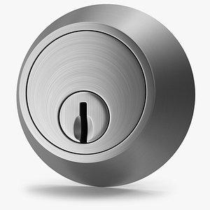 3D Door Lock Steel V01 model