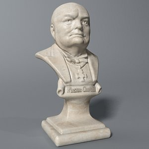 3D Witson Churchill Bust