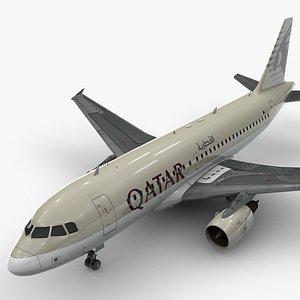 3D AirbusA319-100QATAR AirwaysL1436