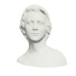 woman bust print 3D model