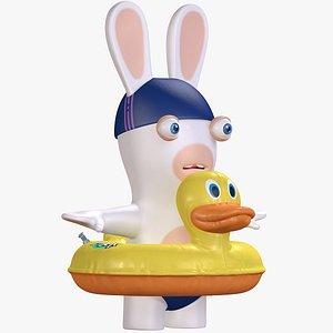 3D model Rabbid Swimmer Character 8K