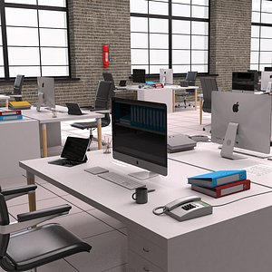 interior room indoors 3D model