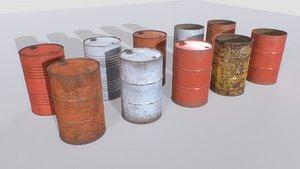 3D Barrels mix Pack 2 model