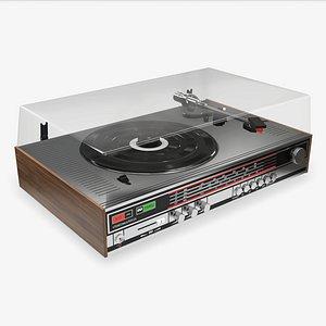 vinyl turntable 3D model