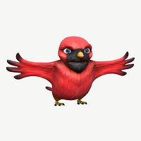 Cardinal Cartoon Bird
