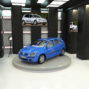 3D model Volkswagen Golf V