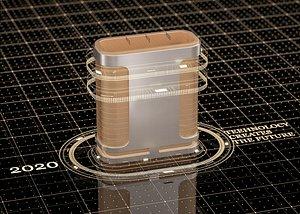3D LOGO bar package timeline science and technology matrix elements golden atmosphere dot line backgrou model
