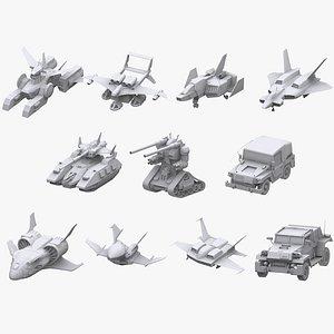 gundam federation zeon 3D model