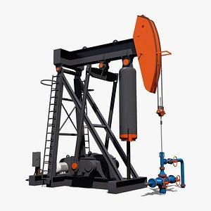 3D model air balanced pump