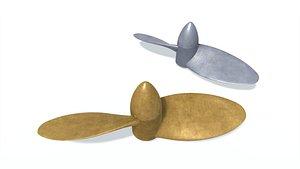 3D model ship screw e 2