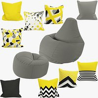 Bean Bag Chairs and Pillows Collection V2