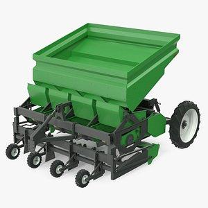 3D Potato Planter Green model