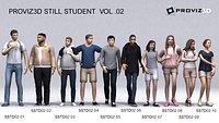 3D People: 30 Still 3D Student Vol. 02