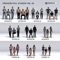 3D People 30 Still 3D Student Vol 02