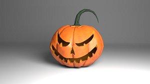 3D halloween pumpkin jack-o -lantern