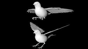 3D sparrow bird