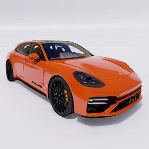 3D 2021 Porsche Panamera model