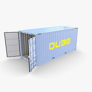 20ft Shipping Container Qube v2 model
