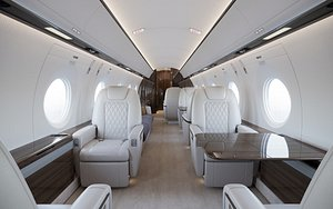 Business Jet Interior 3D model