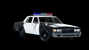 3D chevrolet caprice police model