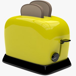 cartoon toaster 3D model