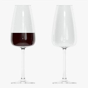 Wine glass 02 3D model