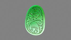 Cartoon jade pendant model