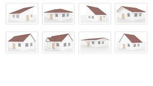 Roof singles Set 3D model