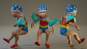 child female swwimmingpool swim pool model