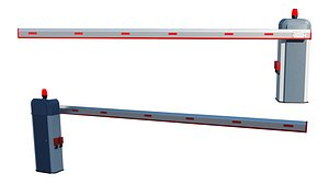 Automatic Traffic Barrier 3D model