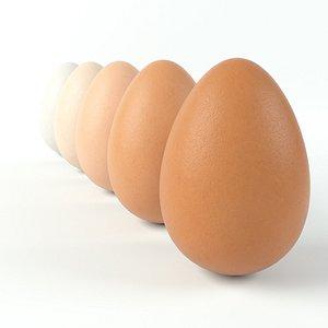 realistic egg 4k pbr 3D model